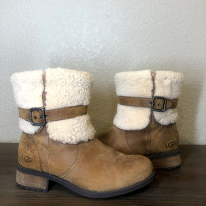 Ugg Blayre II Shearling Cuff Suede Boots Size